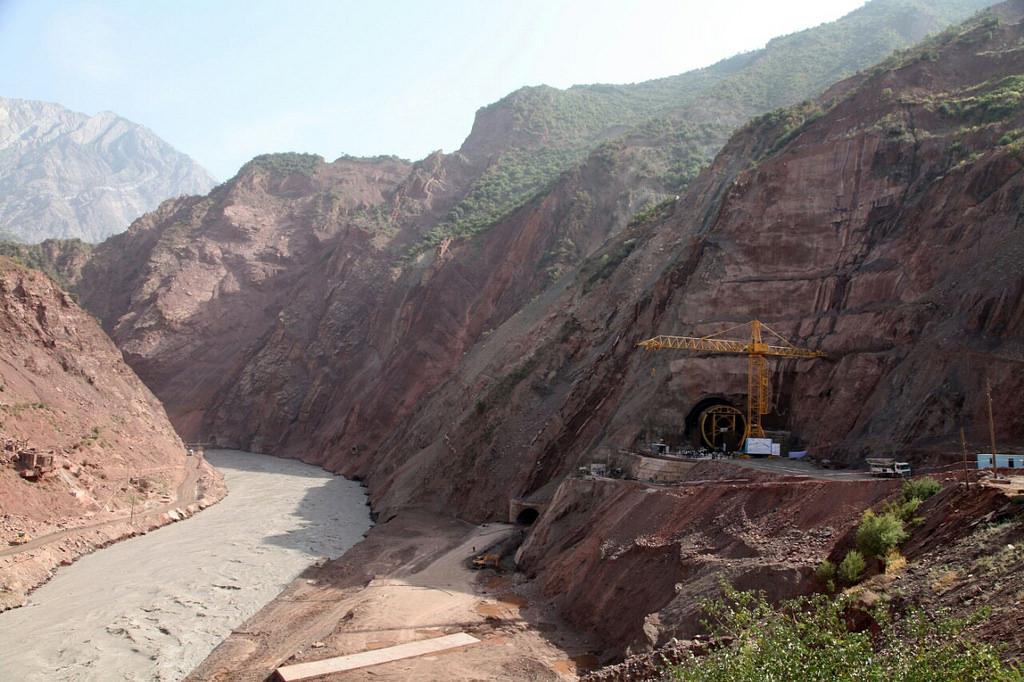 Le site de construction du futur barrage