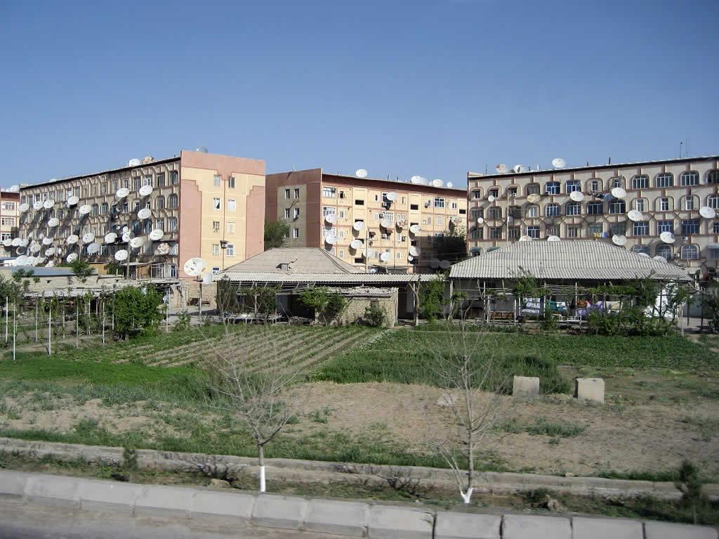 Un immeuble d'habitation à Mary, dans le sud-est du Turkménistan.