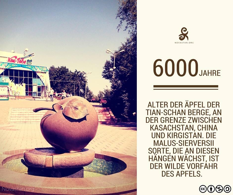Central Asia Fact älteste Äpfel