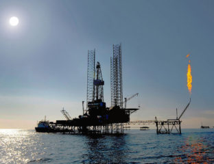 Öl Plattform Bohren Ressourcen Kaspisches Meer