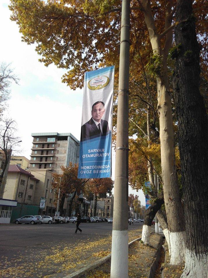 Sarwar Sadullajewitsch Otamuratow vertritt die demokratische Partei.