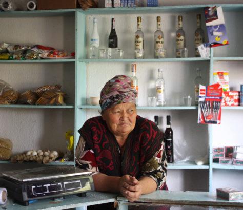 Kiosk Dorf Kirgistan