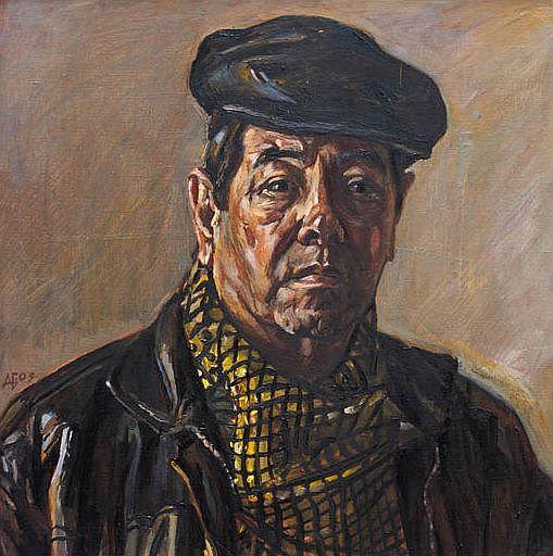 Ein Porträt im typischen Stil Bairamows