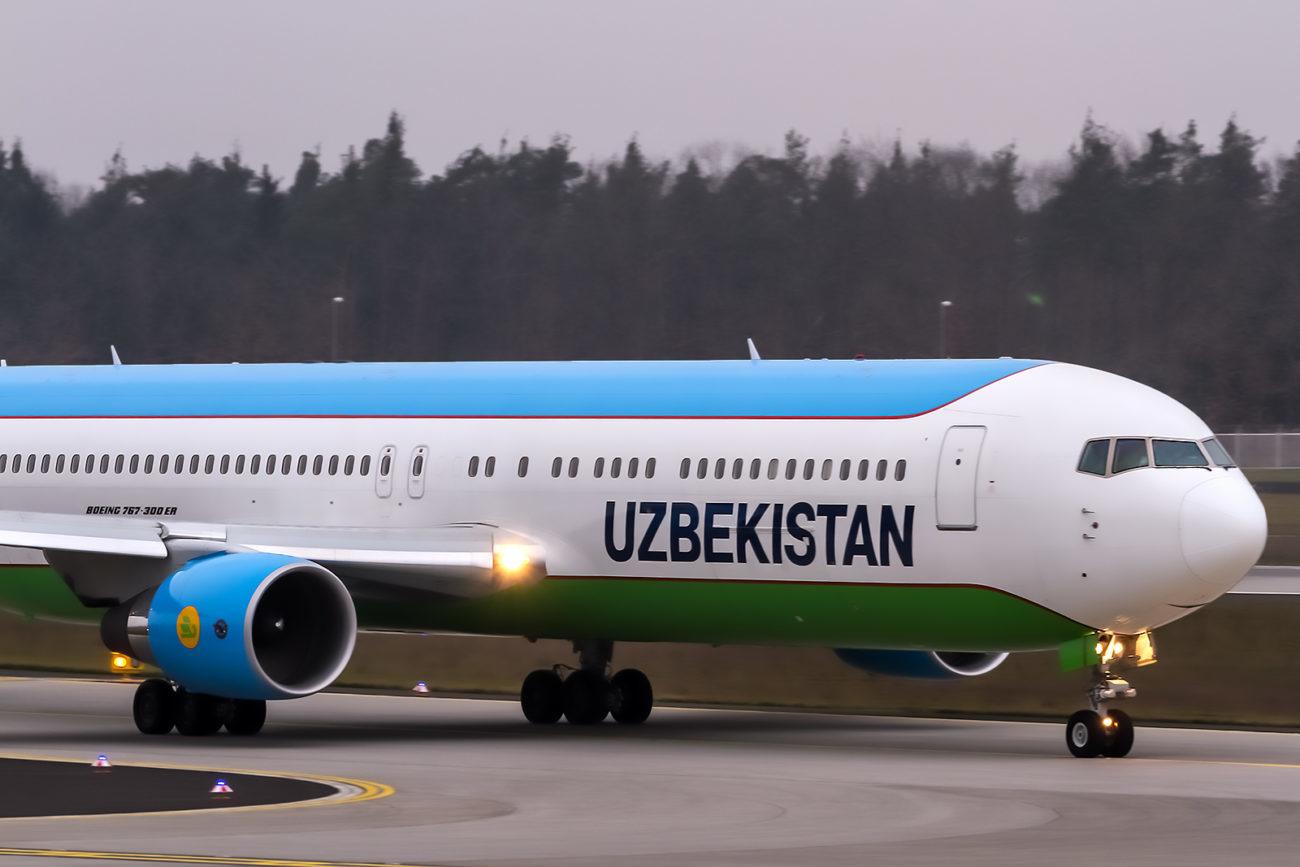 Usbekistan Airways Flugzeug