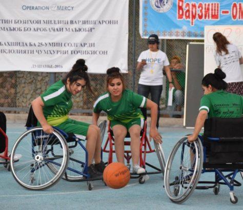 Basketballerinnen in Tadschikistan