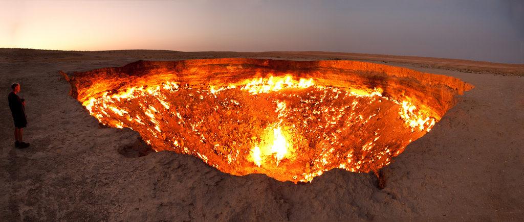 Darwaza Turkmenistan Tourismus Tor zur Hölle