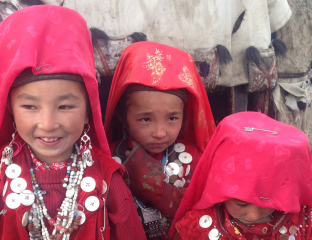 Pamir Kirgisen Afghanistan Mädchen