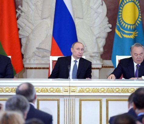 Nasarbajew Putin Lukaschenka Eurasische Wirtschaftsunion