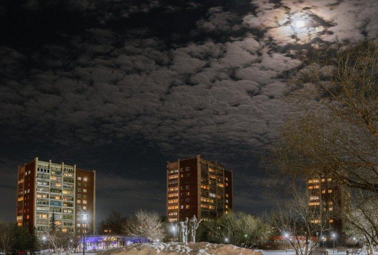 Zelinograd 25 Kasachstan Stepnogor Nachts