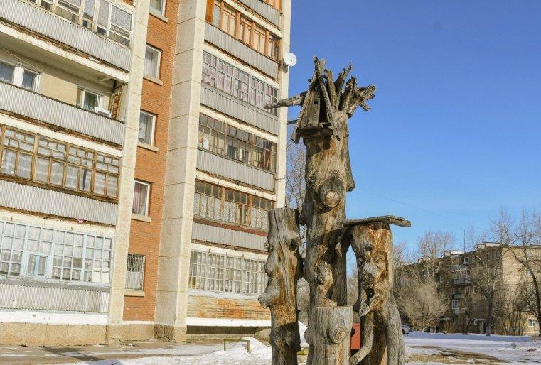 Zelinograd 25 Kasachstan Stepnogor Wohnbezirk