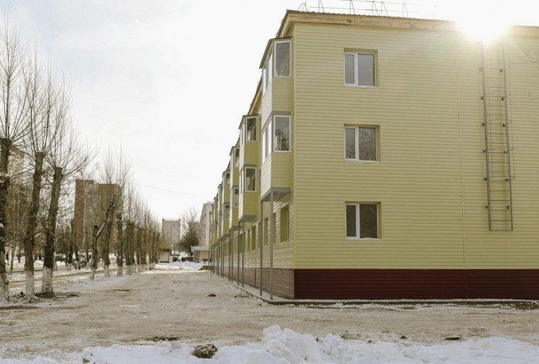 Zelinograd 25 Kasachstan Stepnogor Neubauten