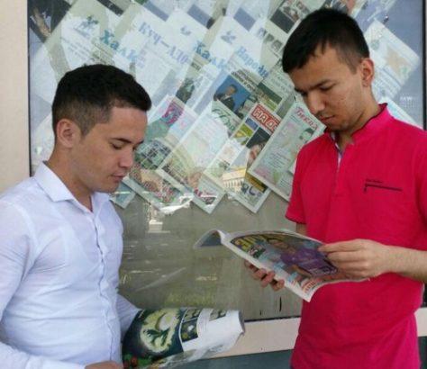 Kiosk Zeitungen Usbekistan Taschkent