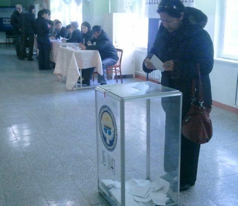 Kirgistan Bishkek Urne Wahl Wahlbeobachter