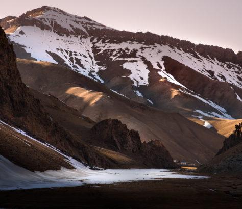 Berge Kirgistan China Grenze Hof