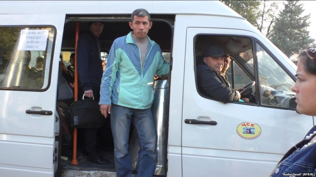 Tadschikistan Duschanbe Bus Marschrutka Ticket Umsonst