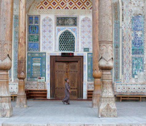 Moschee Usbekistan Buchara Frau