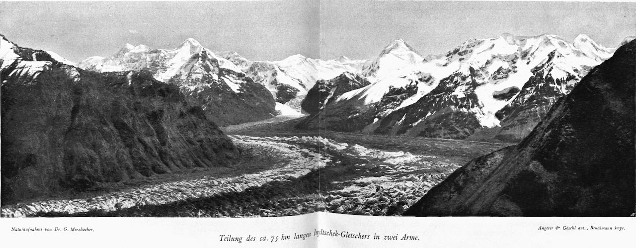 Inyltschek Gletscher Gottfried Merzbacher