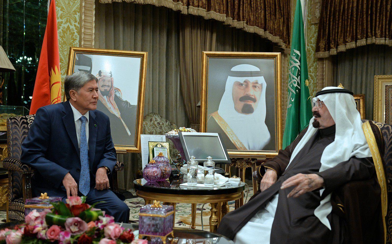 Atambajew auf Staatsbesuch in Saudi Arabien mit König Abdullah