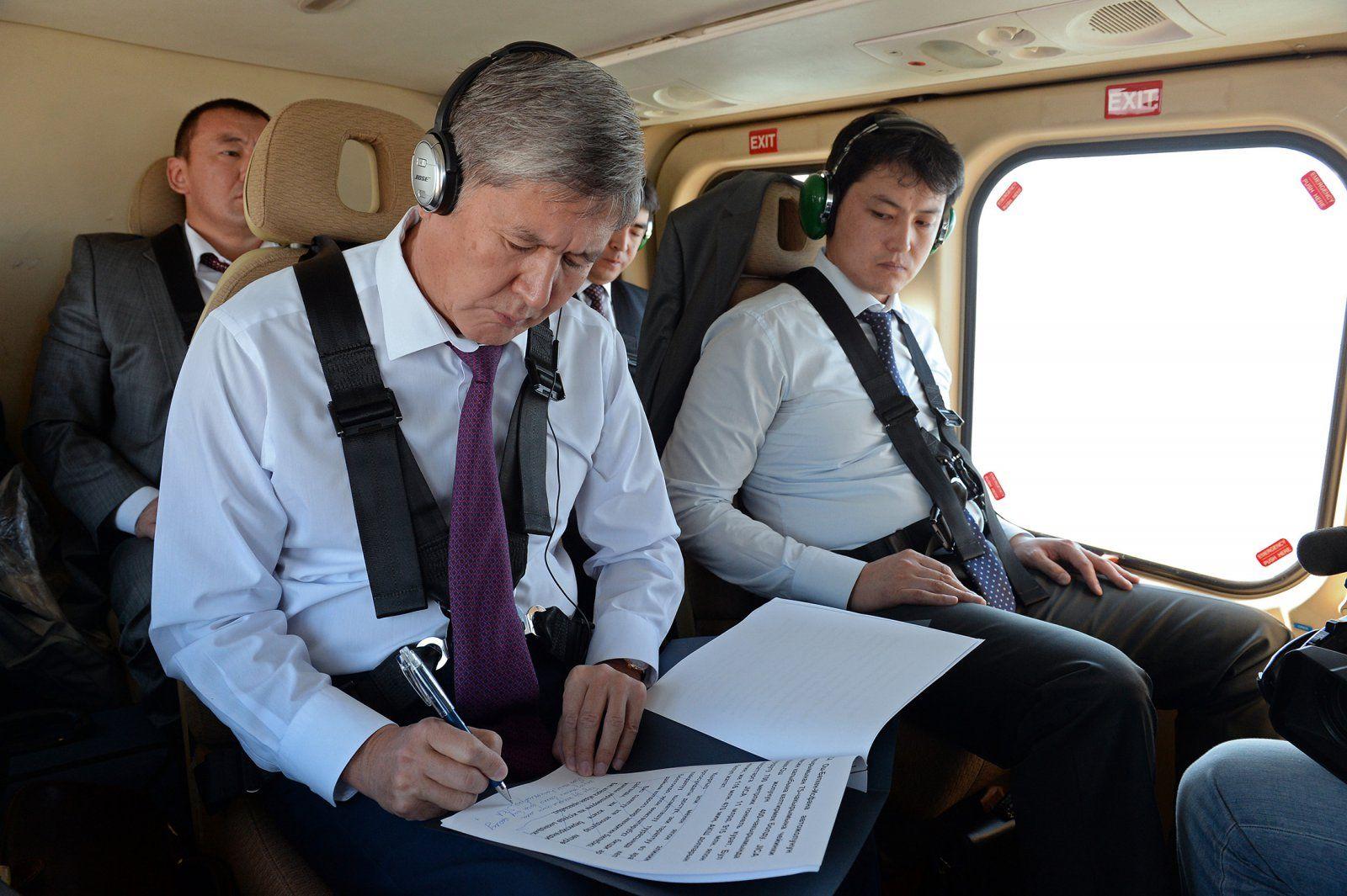 Der Präsident auf dem Weg nach Dschalalabat