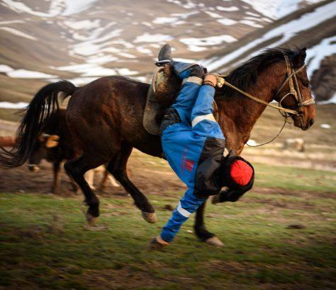 Buzkaschi Übung Kirgistan Kök-Börü Pferdesport