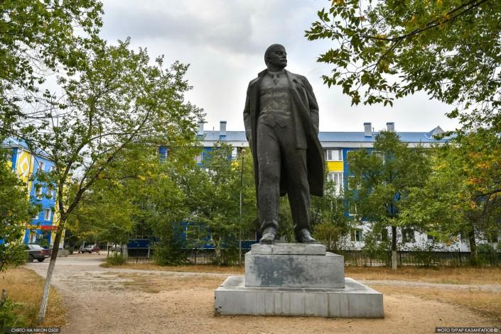 Eine Lenin Statue in Aktöbe
