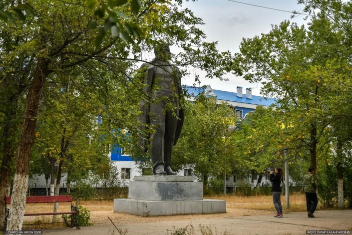 Die Lenin Statue in Aktöbe