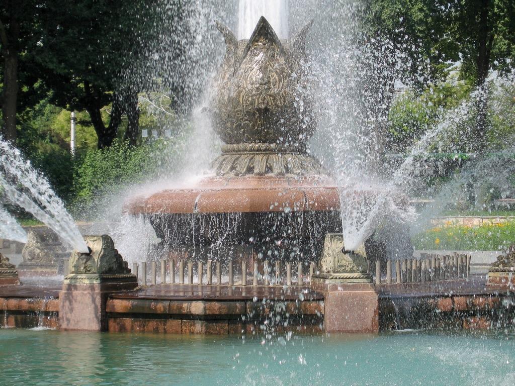 Sprungbrunnen Baumwollknospe Taschkent Usbekistan