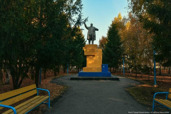 Eine Lenin Statue im nordkasachischen Städtchen Mamljutka