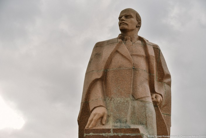 Die Lenin Statue in Karagandy