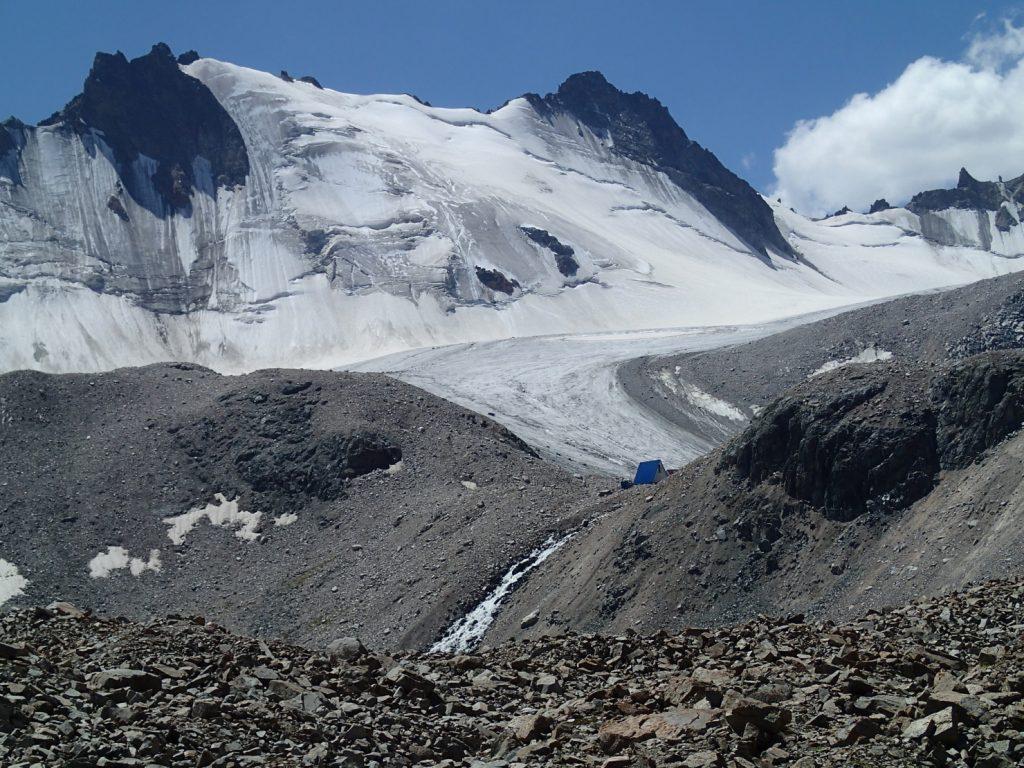 Gletscher Kirgistan Berge Bischkek Umwelt Klimaerwärmung Moräne