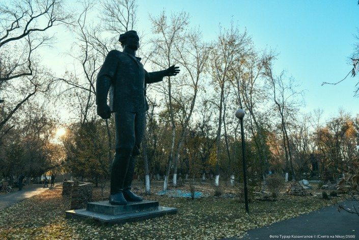 Die Statue von Walerian Kujbyschew Petropawl