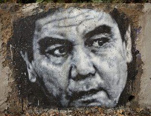 Porträt Präsident Turkmenistan Gurbanguly Berdimuhamedow