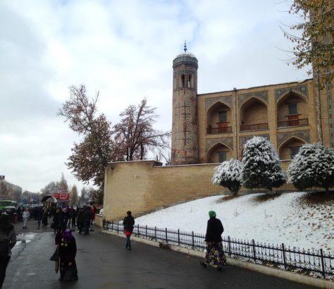 Taschkent Usbekistan Schnee Zentrum Tschorsu Bazaar