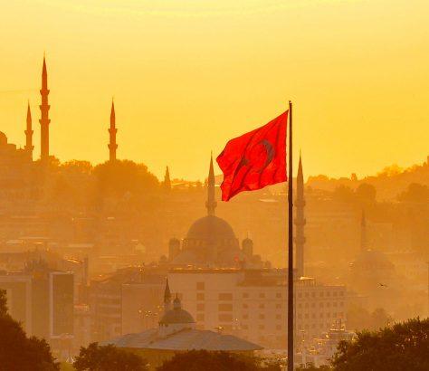 Istanbul Türkei türkische Flagge