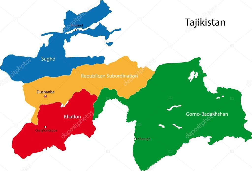 tadschikistan karte Extremismus in Tadschikistan: Diese Regionen sind am meisten
