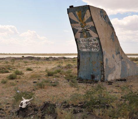 UdSSR Aralsee Kasachstan Denkmal Piloten