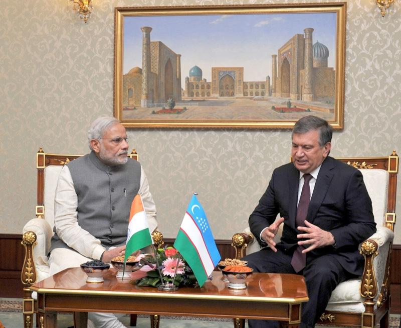 Usbekistan, Indien, Diplomatie, Präsidenten