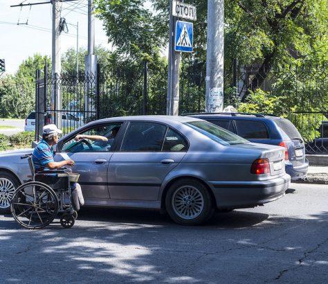 Bischkek, Behinderung, Betteln, Invalide