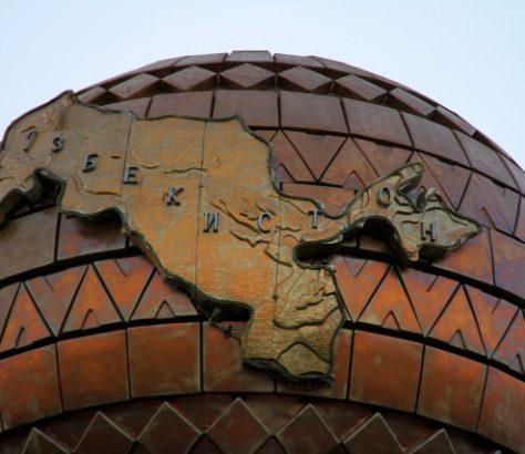 Usbekistan Kugel Unabhängigkeitsplatz