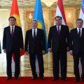 Gipfeltreffen in Astana März 2018 Mirsijojew Nasarbajew Rachmon Dscheenbekow