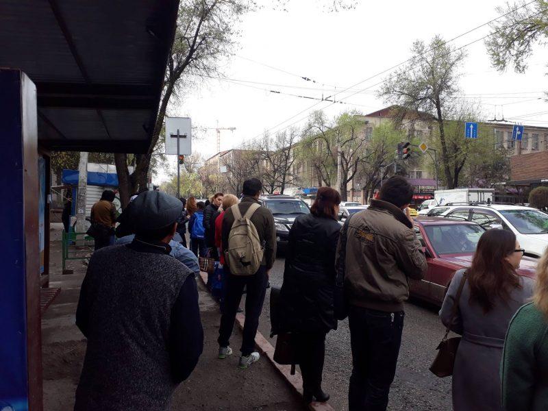 Streik, Bischkek, Kleinbusse