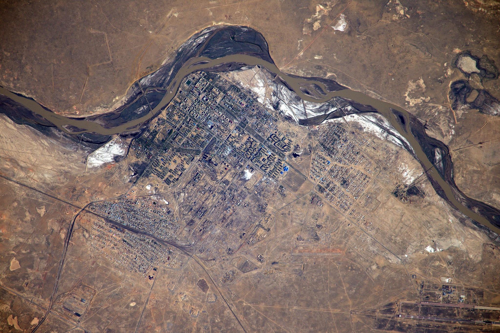 Baikonur aus dem All