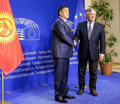 Dscheenbekow EU Parlament Tajani