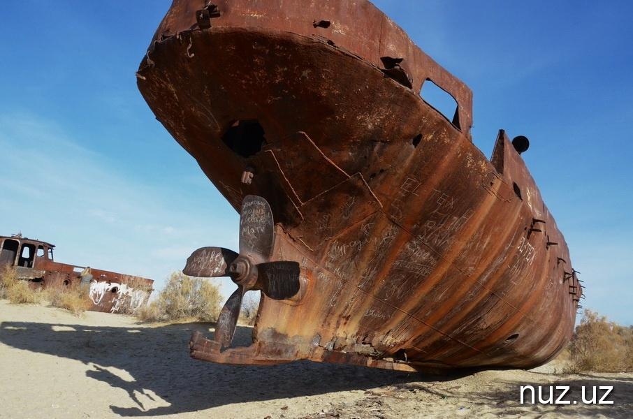 Aralsee gestern Schiffswrack