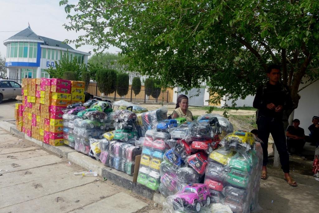 Grenze Markt Usbekistan Tadschikistan Handel