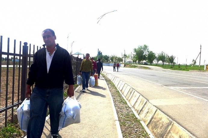 Grenze Usbekistan Tadschikistan
