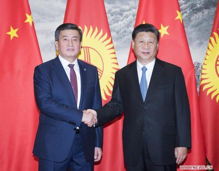 Sooronbaj Dscheenbekow und Xi Xinping