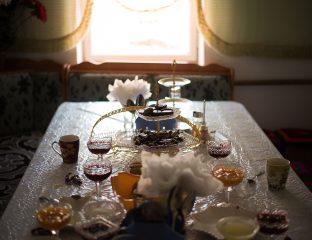 Kirgisistan Bankett Süßspeisen Gastfreundschaft