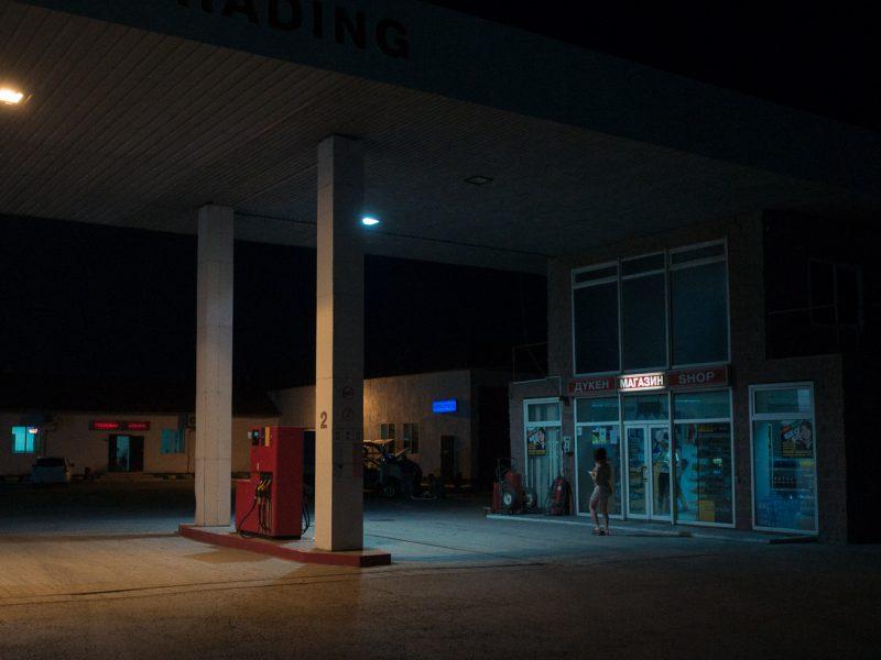 Tankstelle Kasachstan Nacht Astana Almaty