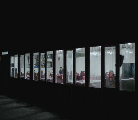 Busbahnhof Nacht Bishkek